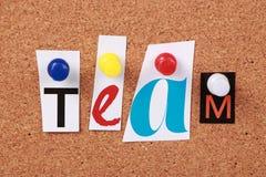 Team Single Word Imagen de archivo libre de regalías