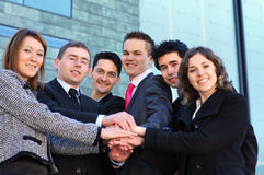 A team of six young and smart business persons Stock Photography