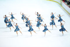 Team Skating Graces dance Royalty Free Stock Photography