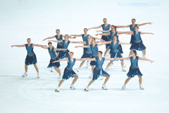 Team Skating Graces-Gruppe Stockbild