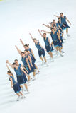Team Skating Graces na linha Imagens de Stock Royalty Free