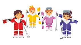 Team of skiers Royalty Free Stock Photography