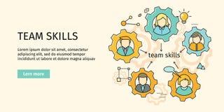 Team Skills Banner Avatar dans la vitesse Photos libres de droits
