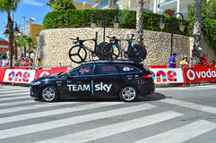 Team Sky Car At La Vuelta España Stock Photo