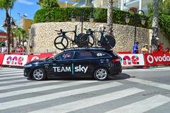 Team Sky Car At La Vuelta España Stock Photo