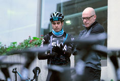 Team Sky cycling Manager and Rider Mikel Landa Royalty Free Stock Photo