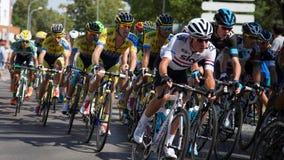 Team Sky et Tinkoff - Vuelta un España 2014 Photos stock