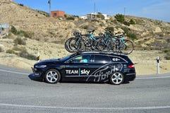 Team Sky Ford Car Fotografía de archivo