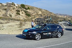 Team Sky Ford Support Vehicle Stock Photography