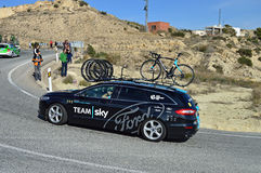 Team Sky Ford Support Vehicle Stock Images
