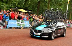 Team Sky nel Tour de France Fotografie Stock