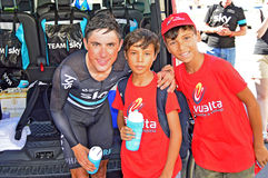 Team Sky  Peter Kennaugh Royalty Free Stock Photo