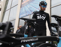 Team Sky in preparation of the 2017 season Royalty Free Stock Photography