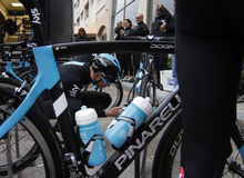 Team Sky in preparation of the 2017 season Stock Images