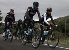 Team Sky in preparation of the 2017 season Royalty Free Stock Image