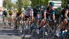 Team Sky Rider in Vuelta a España Royalty Free Stock Photos