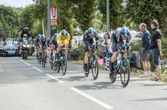 Team Sky - Team Time Trial 2015 Imagen de archivo libre de regalías