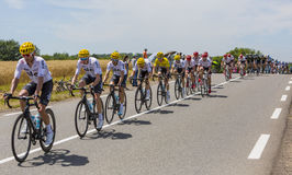 Team Sky - Tour de France 2017 fotografia de stock