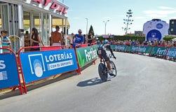 Team Sky In TT Tid försök på La Vuelta España Arkivfoton