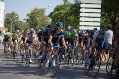 Team Sky - Vuelta a España Stage 2 Stock Photos