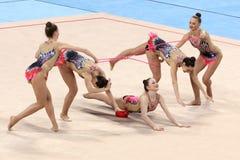 Team Slovakia Rhythmic Gymnastics Stock Images