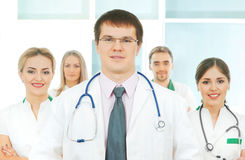 A team of smart and young Caucasian doctors Royalty Free Stock Photography