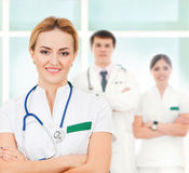 A team of smart and young Caucasian doctors Royalty Free Stock Images