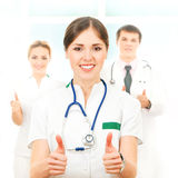 A team of smart and young Caucasian doctors Royalty Free Stock Photos