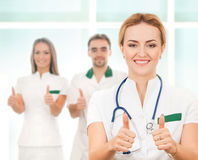 A team of smart and young Caucasian doctors Stock Image