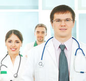 A team of smart and young Caucasian doctors Stock Photography
