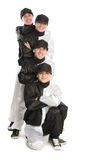 Team of smiling young men Royalty Free Stock Images