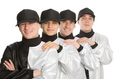 Team of smiling young men Royalty Free Stock Photography