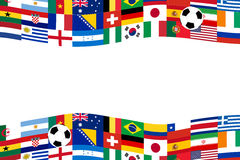 Team soccer flag banner Royalty Free Stock Images