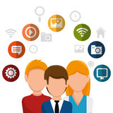 Team social network people. Vector illustration eps 10 Royalty Free Stock Photography