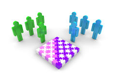 Team Solving Puzzle Immagini Stock