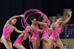 Team Spain Rhythmic Gymnastics royalty free stock photo