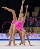 Team Spain Rhythmic Gymnastics stock image