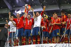 Team of Spain, the Winner of UEFA EURO 2012 Tournament Stock Images