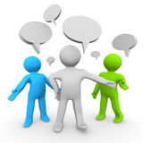 Team with Speech Bubbles Royalty Free Stock Images