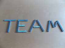 Team Spelled Out in Staples Royalty Free Stock Images