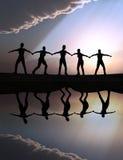 Team spirit. Illustration for teamwork, team spirit, vision and success Stock Images