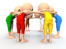 Team spirit, business debate. And strategy consultation. 3d little humans vector illustration