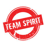 Team Spirit rubber stamp. Grunge design with dust scratches. Effects can be easily removed for a clean, crisp look. Color is easily changed Stock Images