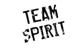 Team Spirit rubber stamp. Grunge design with dust scratches. Effects can be easily removed for a clean, crisp look. Color is easily changed Stock Photography