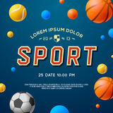 Team sport concept background, soccer, basketball Royalty Free Stock Photography