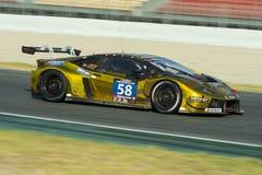 Team Sportec Motorsport ¡ N GT3 Lamborghinis Huracà 24 Stunden von Barcelona Stockbild