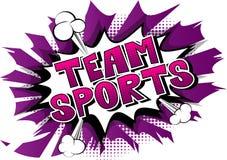 Team Sports - de Grappige uitdrukking van de boekstijl vector illustratie
