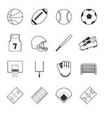Team sports icons set Royalty Free Stock Images