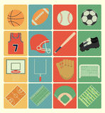 Team sports icons set Royalty Free Stock Image