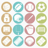 Team sports icons set Royalty Free Stock Photography